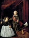 Príncipe Baltasar Carlos com um Anão