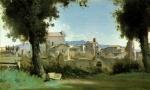 Vista dos Jardins Farnese em Roma