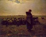 Uma Pastora  com seu Rebanho