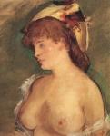Mulher Loura com Seios Desnudos