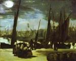 Luar sobre o Porto de Boulogne-sur-Mer