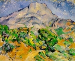 Monte Santa Vitória acima da Estrada de Tholonet