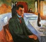 Auto-retrato  com Garrafa de Vinho