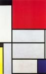 Composição com Preto, Vermelho, Cinza, Amarelo e Azul