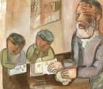 Rabino com Alunos
