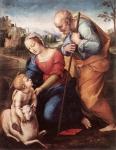 A Sagrada Família com um Cordeiro